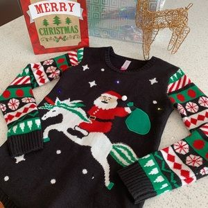 Ugly Christmas Sweater / Light Up Unicorn